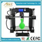 Stampante da tavolino calda della famiglia A6 Fdm DIY 3D di Anet di vendita