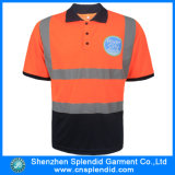 Aangepaste Mens Fluorescentie 3m Reflecterende Safety Polo