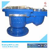 Hierro fundido de doble válvula de bola con bridas de aire automático con BCT-Dav-02