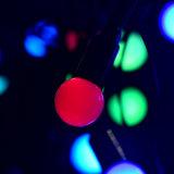 50PCS светильник света шнура рождества пузыря приведенный в действие шариком СИД цветастый водоустойчивый для украшения сада венчания партии празднества праздника