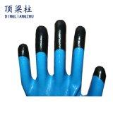 Sicherheits-Handschuhe des Polyester-13G mit Finger verstärkten Nitril-Handschuhen