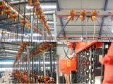 Wechselstrom-synchroner Motor 1.5 Tonnen-elektrische Kettenhebevorrichtung mit Laufkatze
