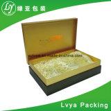 Rectángulo de regalo de papel de lujo de la cartulina para empaquetar
