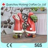Figura ornamento casero de Papá Noel de la resina de la decoración de la Navidad del partido de Holidy