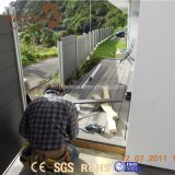 China-Lieferant Holz-Wie wasserdichter Sicherheitszaun des Aluminium-WPC für Garten