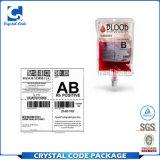 Unbelegte starke Extraaufkleber für Medizin-Blut-Beutel