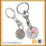 쇼핑 카트 주문 금속 명목 트롤리 동전 홀더 Keychain