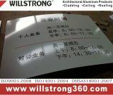 matière composite en aluminium balayée par argent de panneau de signe en métal de 3mm