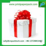 Изготовленный на заказ коробка упаковки тесемки подарка картона бумажная