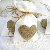 Inner-Hochzeits-Süßigkeit-Jutefaser-Beutel-rustikale Beutel-Sack-Partei-Bevorzugungen