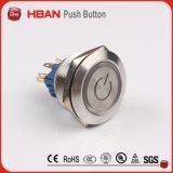 Переключатель металла Анти--Вандала Hbgq25 25mm водоустойчивый, переключатель кнопка