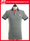 Abitudine all'ingrosso calda del cotone dell'uomo ricamata e maglietta di polo di modo di stampa