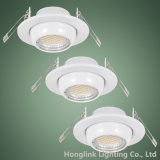 Whole Sale를 위한 전시 Shelf Packed Adjustable Ball LED Recessed Downlight