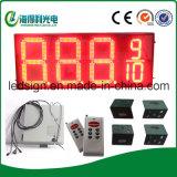 Gasolina do diodo emissor de luz que anuncia o sinal do preço
