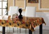 O projeto popular gravou a fábrica impressa PVC da venda por atacado do Tablecloth da grão
