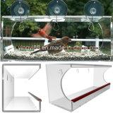 水抜き穴が付いているカスタム大きく及び明確なアクリルのWindowsの鳥の送り装置