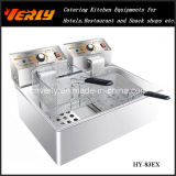 Hete Sale Commercial Electric Fryer, Desktop Electric Fryer voor French Fries, Chips enz., 1 Tank 1 Basket, Ce Approved (hy-83EX)