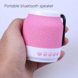 Luz intermitente Bluetooth inalámbrico mini altavoz portátil para teléfono móvil