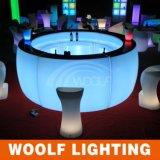 Mesa redonda do diodo emissor de luz da venda quente/contador da barra