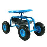 Cuatro ruedas de trabajo renovable Asiento de jardín, peaje de la compra, silla Trabaja con Ruedas