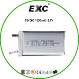 OEM 3.7V 1500mAh Li Polymer Rechargeable Battery 704060