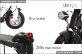 LED Head Lightとの小型Cheap Foldable Ebike Scooter