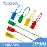 Selos plásticos evidentes da segurança da calcadeira