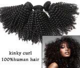 Het kroezige Krullende Braziliaanse Maagdelijke Weefsel van het Haar van de Uitbreiding van het Menselijke Haar