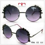 خاصّة تصميم نظّارات شمس مع زهرة زخرفة مستديرة إطار نظّارات شمس (30388)
