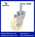 Pesante-dovere Castors di Mounting Medium della parte girevole con Nylon White Wheels e Double Brake
