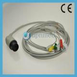 Nihon Kohden Oec - 6102A 5 Lead ECG Cable , Tipo Clip , 8pin