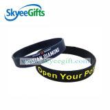 Wristband economico del silicone con colore riempito