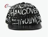 Lederner Snapaback Hut PU-mit Ihren eigenen Firmenzeichen 3D