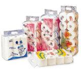 El papel higiénico Multi-Rueda la empaquetadora