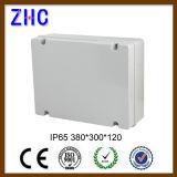 La casella impermeabile di plastica IP65 di fabbricazione 380*300*120 della Cina impermeabilizza la casella di plastica provvista di cardini di allegato della scatola di giunzione