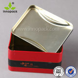 4L realzó la caja impresa del metal de la galleta del caramelo de la categoría alimenticia