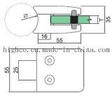 Ajustage de précision en verre de balustrade de bride d'acier inoxydable