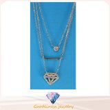 925 collier argenté à chaînes N6808 du pendant 925 de forme ronde de collier d'argent sterling