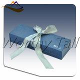 Rectángulo de regalo de empaquetado de la joyería popular más nueva del papel azul 2016