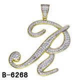 China fábrica al por mayor nuevos estilos de plata 925 Iniciales colgantes.