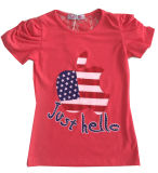 Цветок Letter Girl T-Shirt в Children Clothes Apparel с Print Sgt-073