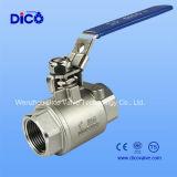 Válvula de esfera de alta pressão do certificado ISO9001 com linha do NPT