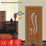 Portas de madeira revestidas interiores do MDF do PVC de China Top10