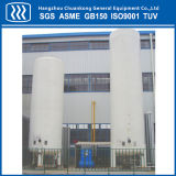 El tanque de almacenaje criogénico vertical del aislante del vacío de la certificación de ASME