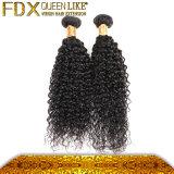 深く織り方の毛のバージンのRemyの巻き毛のペルーの毛3部分の