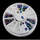 Manufactory для 96 искусствоа ногтя цвета 3D PCS 12 наклоняет Rhinestone яркия блеска самоцветов кристаллический