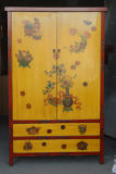 Ancient Chinese Reproduction Hand Painted Cabinet Lwa421