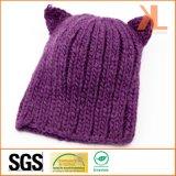 Шлем дьявола 100% акриловый связанный пурпуровый