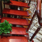 Populäre Form-klassisches Edelstahl-festes Holz-Treppenhaus
