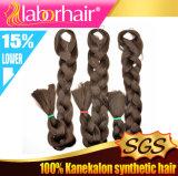 Haar-Flechte 100% Yaki Kanekalon riesige Flechten-synthetischer Haar-Extensions-Großverkauf 2016 Lbh 046